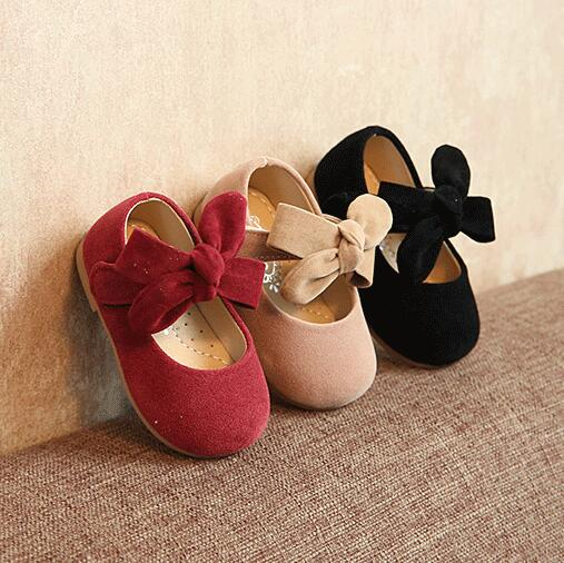 2019 Spring And Autumn Model Baby Leather Shoes Little Princess Soft Bottom 1-3T Old Love Bow Girl Can Not Afford To Fall Shoes