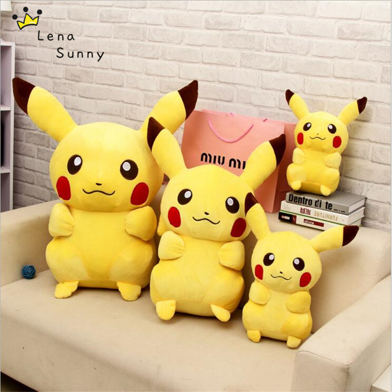 25-65CM Kawaii Pikachu Plush Toy Doll ,Stuffed&Plush Cartoon Pikachu Animals Toys For Children Gift, Juguetes de peluche 2018 huge giant plush bed kawaii bear pillow stuffed monkey frog toys frog peluche gigante peluches de animales gigantes 50t0424
