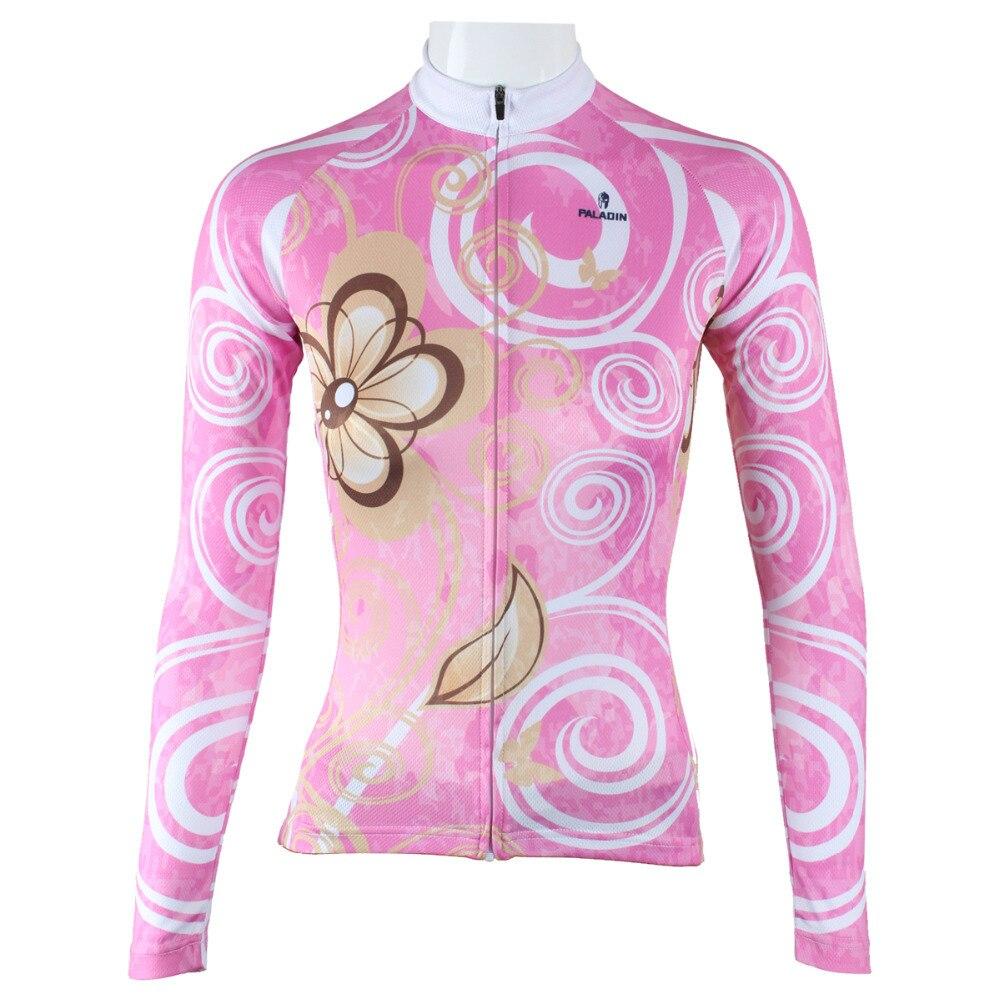 Nové Arabesky Motýl Ropa Ciclismo Ženy Polyester Dlouhý rukáv Cyklistické oblečení Prodyšné Cyklistické oblečení Růžové Cyklistické oblečení