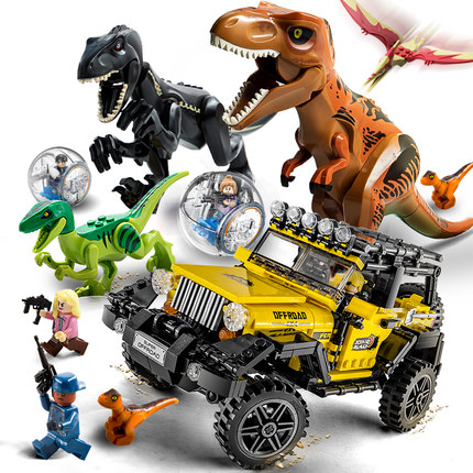 594 pieces World Jurassic 2 dinosaur Tyrannosaurus Rex escape building blocks Legoings Jurassic figures Bricks-Rex model Toys594 pieces World Jurassic 2 dinosaur Tyrannosaurus Rex escape building blocks Legoings Jurassic figures Bricks-Rex model Toys