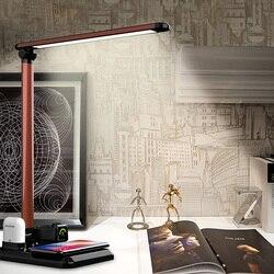 Bezprzewodowa ładowarka qi lampa stołowa led pulpit bezprzewodowa stacja ładująca do Apple Watch Airpods IPhone X bezprzewodowa ładowarka 3 w 1