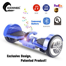 UL2272 Electric Hoverboard Skateboard LED Light With Bluetooth 2 Wheels Self Balancing Kick Scooter Hover Board for Adult Kid(China)