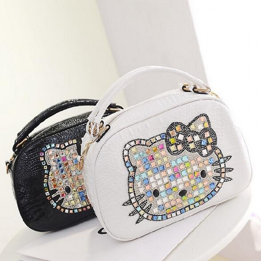 Trapeze hello kitty bag leather women female designer handbags high quality tote bags bolsas femininas couro sac a main 40 trapeze hello kitty bag leather women female designer handbags high quality tote bags bolsas femininas couro sac a main 40