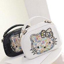 Trapèze bonjour kitty sac en cuir femmes sacs à main designer femmes de haute qualité sacs fourre-tout bolsas femininas couro sac à main 40