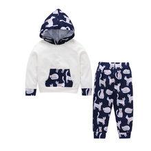 290cbb84c Baby Boys Girls Toddler Cartoon Cat Clothing Set Long Sleeve Hoodie Tops  Sweatsuit Pants Outfit Set