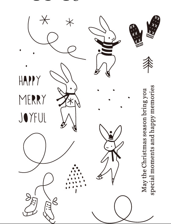 Strict Rabbit Ice Skating/transparent Clear Stamps For Diy Scrapbooking/card Making/kids Christmas Fun Decoration Supplies Scrapbooking & Stamping Home & Garden