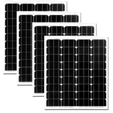 Solar Energy Board 12v 70W 4 Pcs Solar Panels 48v 280W Solar Charger Battery LED Lamp Light Marine Yacht Boat RV Motorhome цена