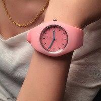 Fashion Women Watch Super soft silicone strap Girls Sport Quartz Watch Geneva Brand Clock Female Casual Analog Wrist Watches Women Quartz Watches