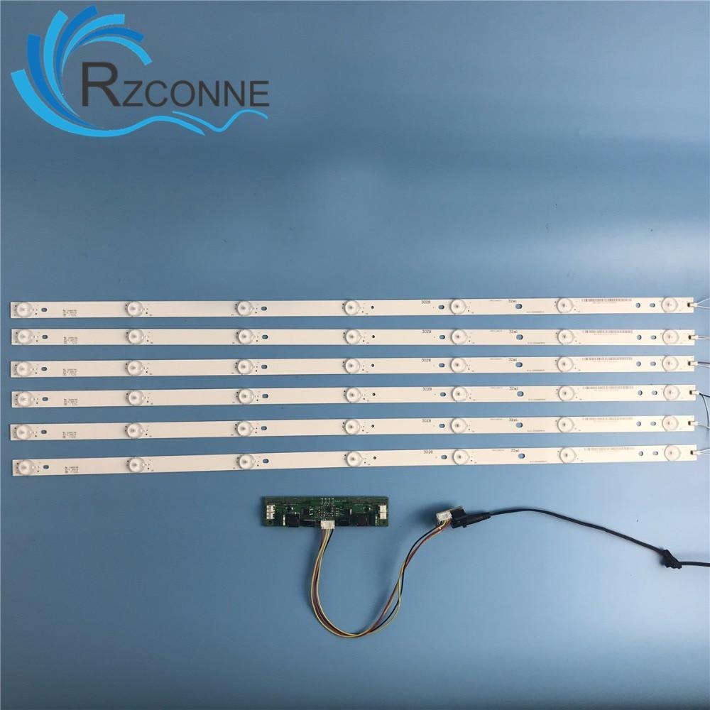 купить 6pcs 693mm 7leds LED Backlight Lamps strip kit Board w/ Optical Lens Fliter for 42 46 55 65 inch LCD LED TV 21v input billboard по цене 2152.12 рублей