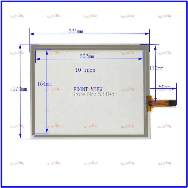NEW 221mm*173 resistive touch screen display on the outside flat screen handwriting 10.4 -inch use tablePC Freeshipping