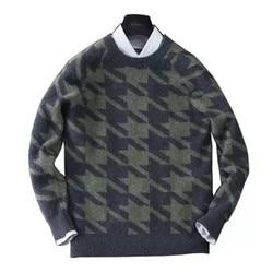 100% kaszmiru Oneck dzianiny mężczyźni smart casual sieweczka case ziarna luźne gruby sweter sweter S-2XL
