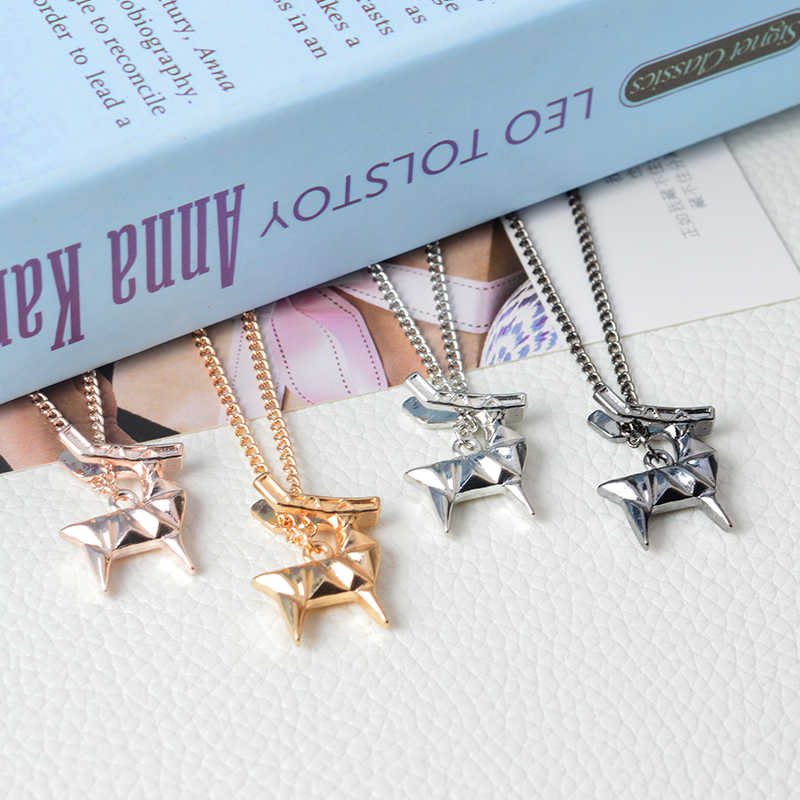 Origami zwierząt ełk Deer wisiorek naszyjnik proste minimalistyczny kreatywny zwierzęta domowe są łańcuch prezent dla kobiety mężczyźni moda Choker biżuteria