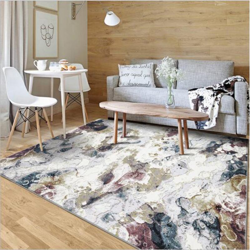 Abstract Design Soft Nordic Style Carpets For Living Room Bedroom Kid Room Rugs Home Carpet Floor Door Mat Simple Hot Area Rug