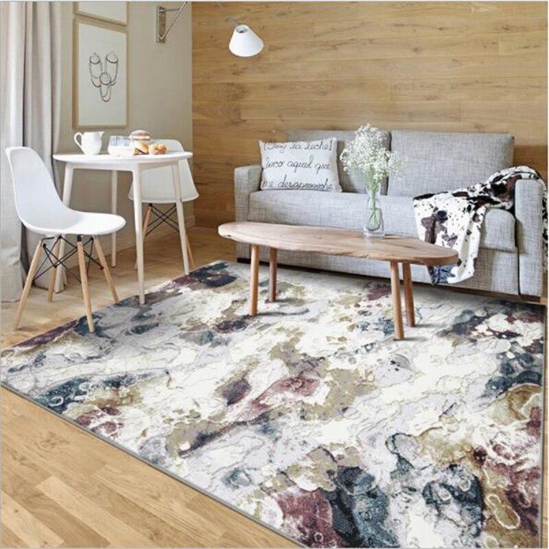 Abstrakcyjny wzór miękkie Nordic styl dywany dla pokoju gościnnego sypialnia pokój dziecięcy dywaniki dywan do domu dywanik na podłogę proste gorący dywan dywan w Dywany od Dom i ogród na  Grupa 1