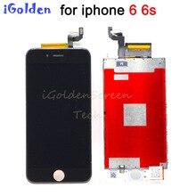 Substituição do lcd para o iphone 6g 6 s 6 s display lcd de vidro com tela de toque digitador vidro com malha branco preto
