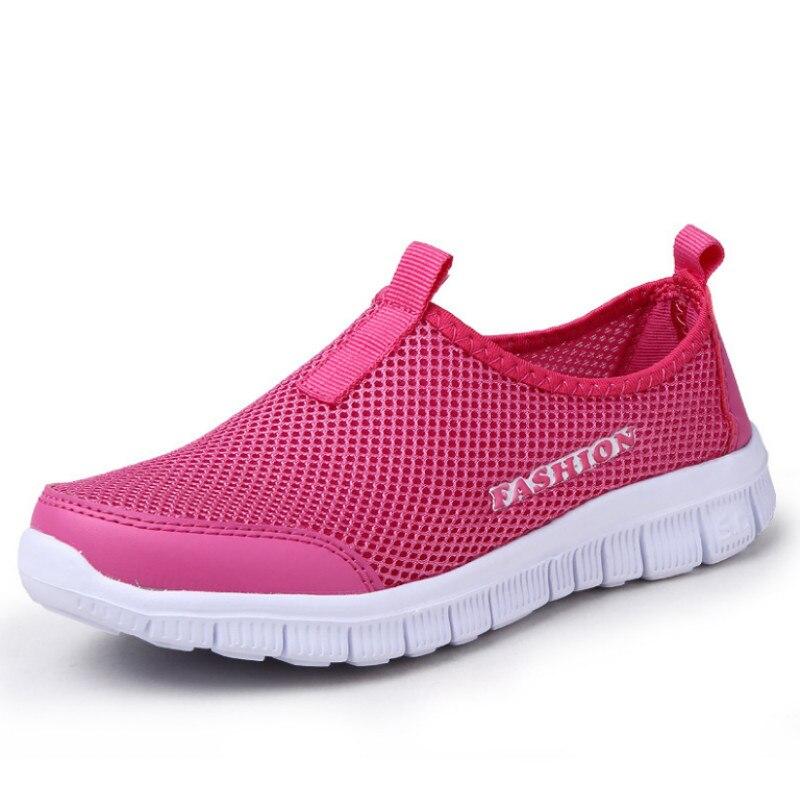 Chaussures Rouge Sport Mode Non bleu Light D'été Couleur rouge slip Respirant Quelques Plat Grey Maille De Pleine rose YHTwYq