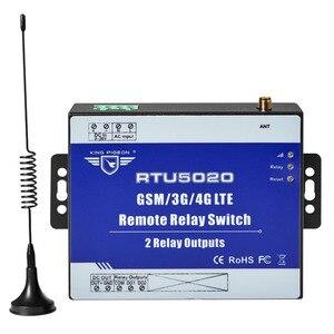 Interruptor de relé sem fio, interruptor de relé 3g 4g sms com 2 saídas de relé para controle de automação de luz de rua rtu5020