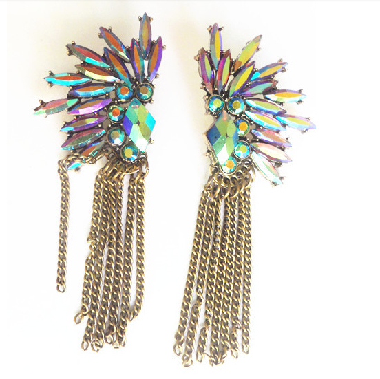 New Arrival Colorful Peacock Earrings