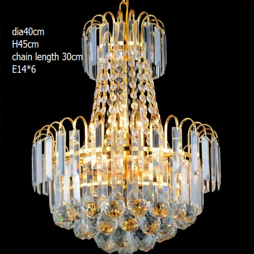Large luxury Stair golden led chandelier Dia40cm villa hotel pendant lamp stainless steel K9 lustre crystal suspended lamp