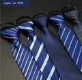 10 цвет 8 см тянет zip мужской галстук тонкий связи свадебные cravate тканые cravatte gravata listrada с молнией взрослых lote A0112-5