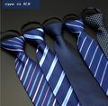 10 colores 8 cm tirones zip hombres de corbata lazos delgados boda cravate tejida cravatte gravata listrada con cremallera adultos lote A0112-5
