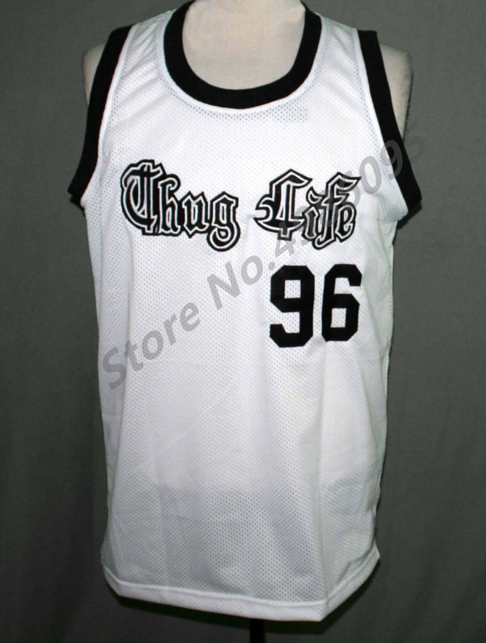 #96 Tupac Shakur Thug Life 2Pac Retro Basketball Jersey Mens Stitched Custom Any Number Name Jerseys