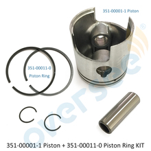 351-00001-1 piston with 351-00011-0 ring Set for Tohatsu Nissan Outboard M NS 9.9HP 15HP outboard engine boat motor