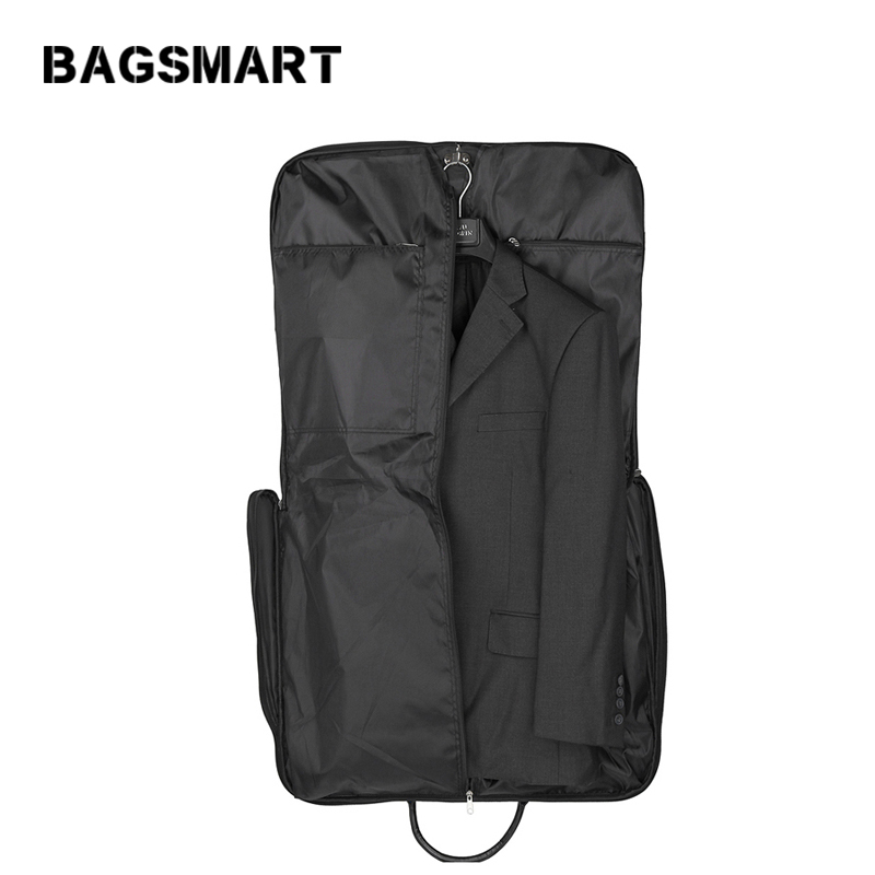 BAGSMART High Quality Suit Bag Black Fold Garment Mens Travel Bags With Zippered Pocket Portable Storage bagBAGSMART High Quality Suit Bag Black Fold Garment Mens Travel Bags With Zippered Pocket Portable Storage bag