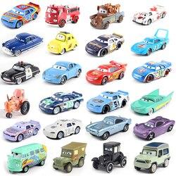 Samochody Disney Pixar 3 39 style błyskawica McQueen Mater Jackson burza Ramirez 1:55 odlewane modele ze stopu metalu Model samochodu zabawki prezent dla dzieci