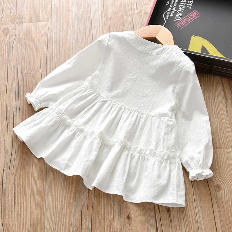 2019 女の赤ちゃん服ブラウスドレス綿リネン春長袖乳児女性子供ドレスホワイト vetements デギャルソン