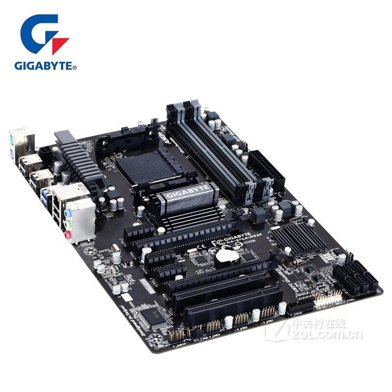 Гигабайт GA-970A-DS3P Оригинал материнская плата DDR3 DIMM USB3.0 32 г гигабайт 970 970A-DS3P настольных плата SATA III AM3 AM3 + Панели