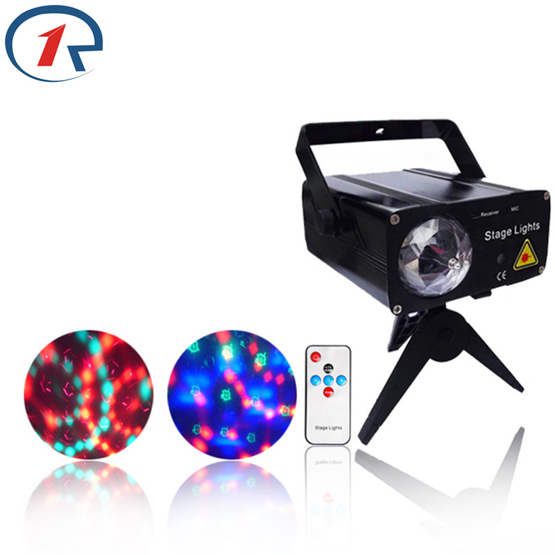 ZjRight Mini Remote Control Laser Star KTV DJ Disco Club Projector Stage Lighting Sound-activated Rotating Colorful Light new mini laser star club projector stage lighting