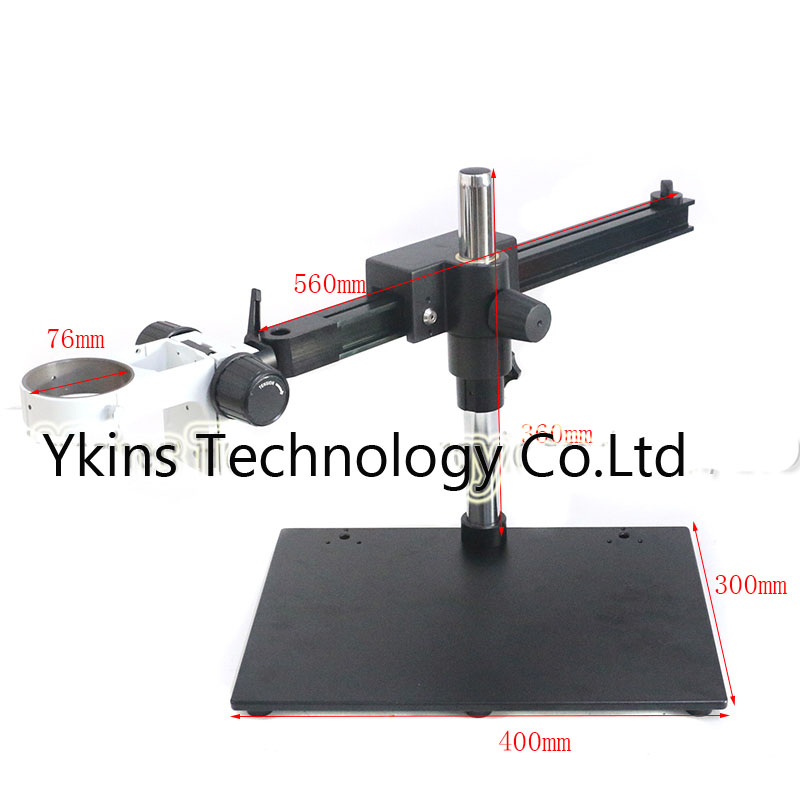 лучшая цена Long Arm Heavy Duty Boom Large Stereo Clamp Table Stand with Ring DIA 76mm Microscope working wide distance