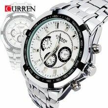 Curren Marca Moda hombre Militar de acero inoxidable Completa Casual impermeable Reloj Deportivo relogio masculino Reloj de pulsera de cuarzo Venta