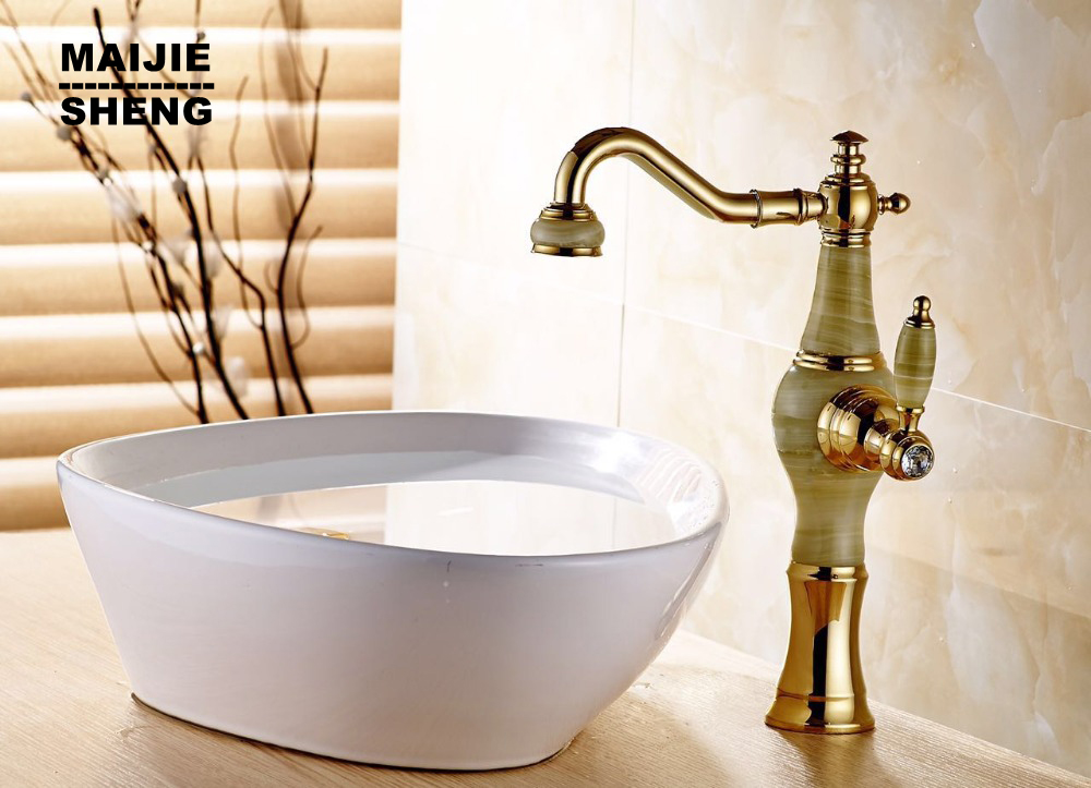 Gold marble kitchensink faucet luxuary golden basin sink tap blackened kitchen mixer none pull out torneiras