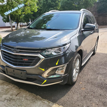Lapetus Car Styling Front Fog Lights Lamp Eyelid Eyebrow Strip Cover Trim Chrome Fit For Chevrolet Equinox 2017 2018 2019 ABS