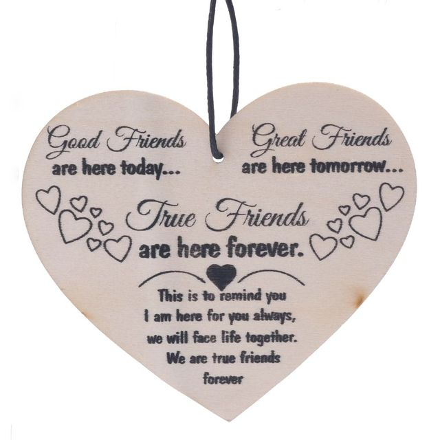 Bestp wood message card friend gift shabby chic heart birthday bestp wood message card friend gift shabby chic heart birthday christmas hanging greeting cards postcards friendship m4hsunfo