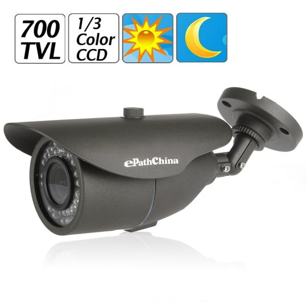 1/3 Inch 700TVL Sony Effio-E CCD 2MP Waterproof Bullet CCTV Camera for Security Video Surveillance + OSD Menu + IR Nigh Vision