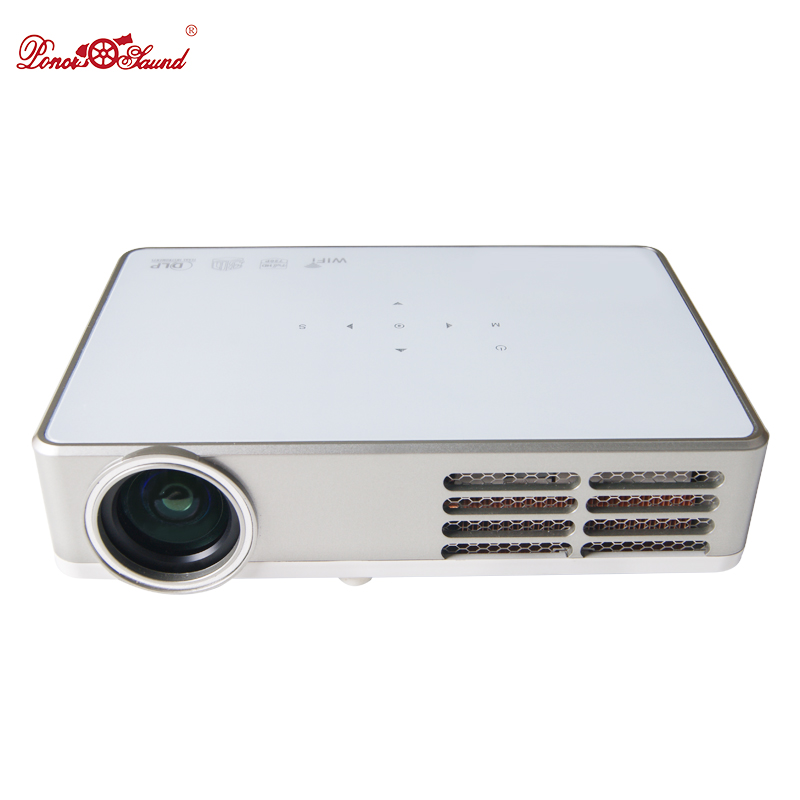 Poner Saund Full Hd New Mini Projector Proyector Led Lcd: Poner Saund 3000 Lumens Dlp Pico Full HD Support 1080