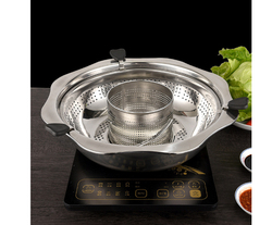 Hot pot Rotating lifting Mandarin Duck/Child mother Separation Stainless steel Non-coated pot  Leachate