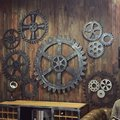 Vintage Industrial Wind Gear mural wall decorations LOFT Restaurant Bar store window wall hangings home decoration accessories