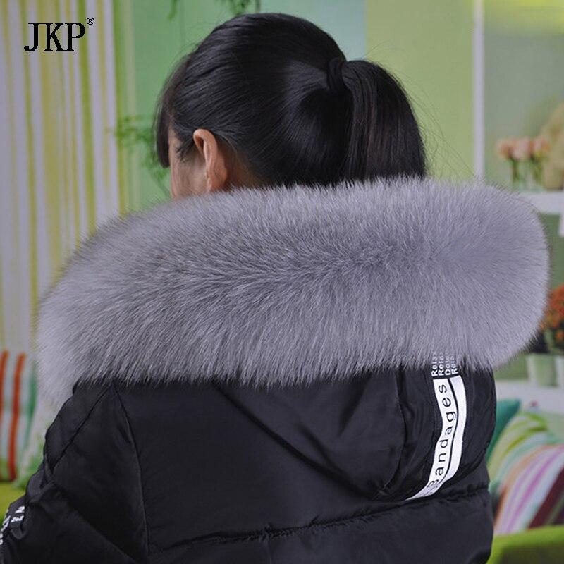 Frauen 100% Echt Fox-pelz-kragen Weibliche Hut Fuchspelz Schal Natürliche Echte Fuchspelz Schals Kragen Zubehör anpassbare