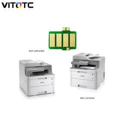 Kompatybilny TN233 TN 233 TN 233 wkład z tonerem chipu dla Brother HL L3210CW DCP L3551CDW MFC L3710CW MFC L3770CDW kolorowa drukarka Chipy tonera    -