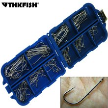 THKFISH Baitholder Hook 100Pcs Fishing Hooks Freshwater Carp Fishing Fishhook anzol para pesca Bait Holder Hooks #3~12#