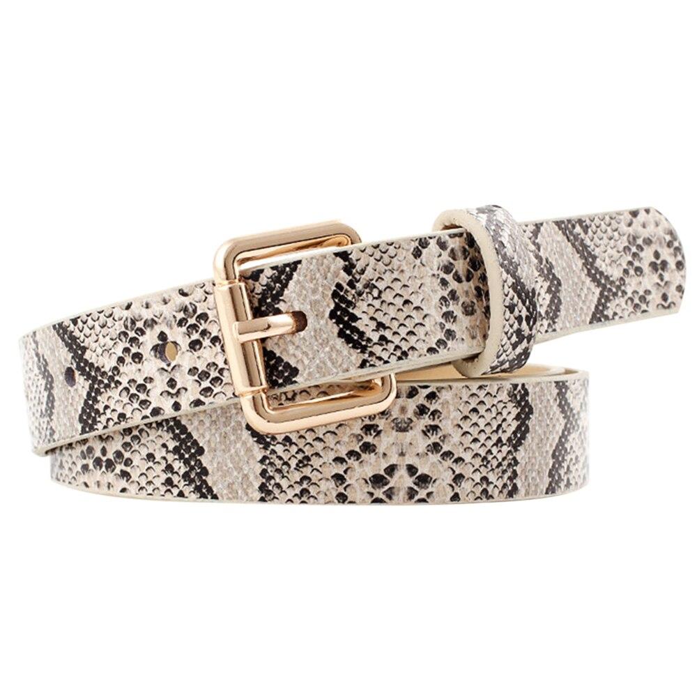 Laamei High Quality Female Pu Leather Snake Waist   Belt   Women 2019 Hot Designer   Belts   For Women's Dress Cinto Feminino   Belts