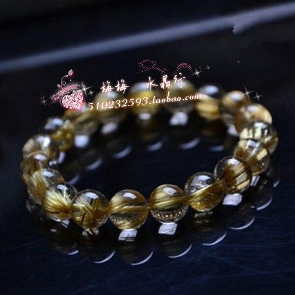 Naturel accessoires de mode cristal naturel bracelet en cristal de titane rutile bracelets amateurs de bijoux