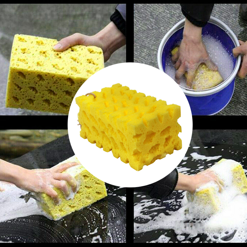 Sponge Car-Washer Car-Cleaning-Cloth Honeycomb Coral 1PC