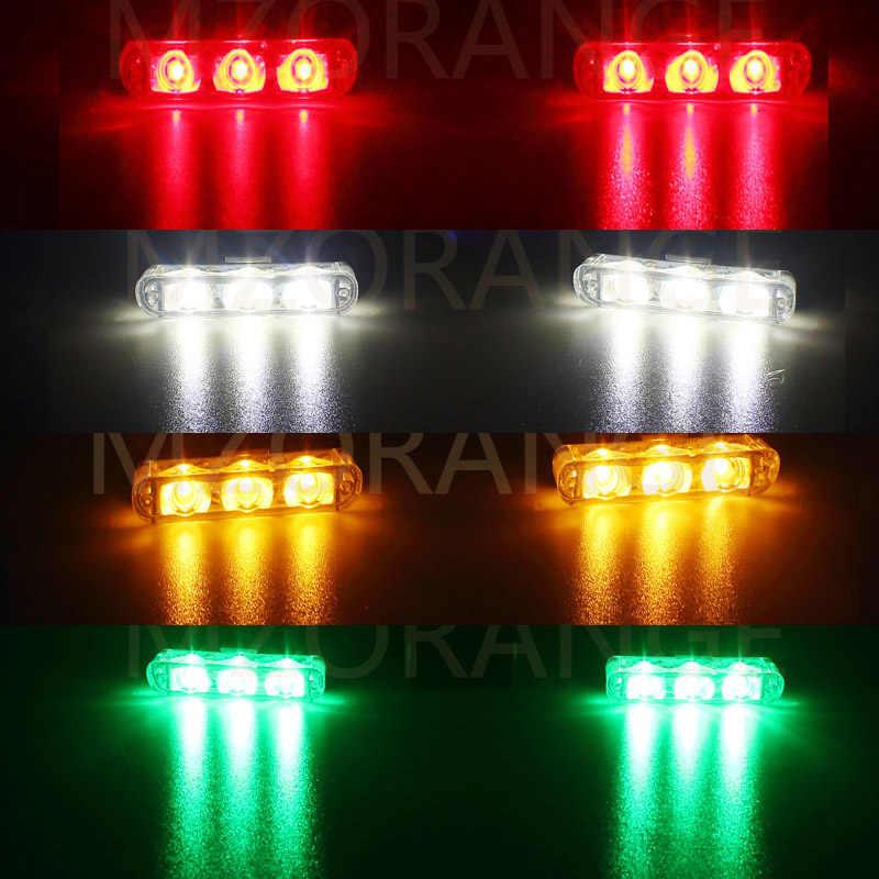 2x3 led carro-estilo ambulância polícia luz caminhão do carro lâmpada de emergência piscando bombeiros luzes dc 12 v auto strobe aviso dia luz