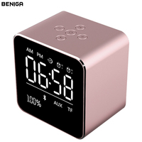 LED Digital Alarm Clock With Bluetooth Music Speaker Function Modern Time Display Electronic Student Desktop Office