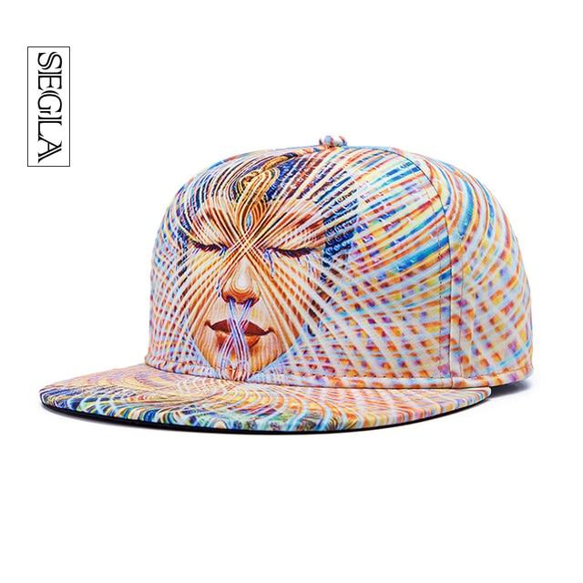 SEGLA Snapback Hip Hop Cap 3D Sexy Lady Flat Brimmed Casquette Casual Sports Outdoor Sun Hats Women Adjustable Baseball Caps